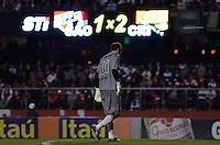 SÃO PAULO, SP, 05 DE SETEMBRO DE 2013 - CAMPEONATO BRASILEIRO - SÃO PAULO x CRICÚMA: Rogério Ceni durante partida São Paulo x Criciúma, válida pela 18ª rodada do Campeonato Brasileiro de 2013, disputada no estádio do Morumbi em São Paulo. FOTO: LEVI BIANCO - BRAZIL PHOTO PRESS.