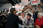 Seneca, South Carolina.USA.February 2, 2004..Senator John Edwads campaigns in his home town at the Seneca Institute Family Life Center, where he was born as one of the final stops before the election polls open for the South Carolina primary vote.