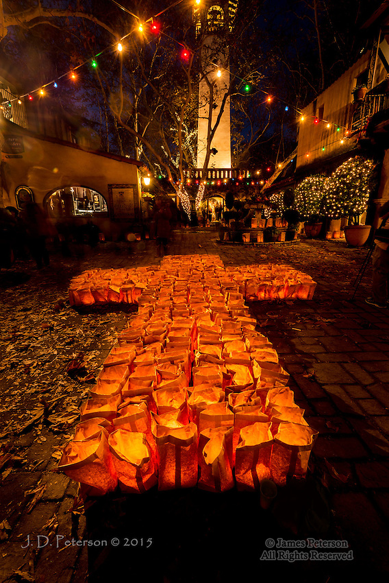 Luminarias at Tlaquepaque Arts and Crafts Village, Sedona, Arizona