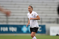 Cary, North Carolina  - Wednesday May 24, 2017: Christie Pearce prior to a regular season National Women's Soccer League (NWSL) match between the North Carolina Courage and the Sky Blue FC at Sahlen's Stadium at WakeMed Soccer Park. The Courage won the game 2-0.