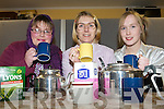 THE WIDOWS PARADISE: Member's of the Ballymacelligott Drama Group rehearsal for their play The Widows Paradise at Cloghers NS on Monday l-r: Angela Lenihan, Catherine Leahy and U?na Kerins.