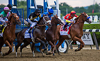 ELMONT, NY - JUNE 09: The start of the 150th running of the Belmont Stakes at Belmont Park on June 9, 2018 in Elmont, New York. (Photo by Sue Kawczynski/Eclipse Sportswire/Getty Images)