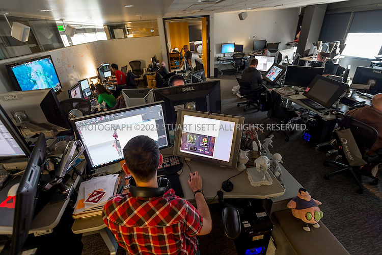 6/18/2012--Bellevue, WA, USA<br /> <br /> Valve Software's offices in Bellevue, WASH., just east of Seattle. The office is set up as a 'boss less' office that is fluid and non-hierarchical. Desks come wheels so that they can be easily moved and reconfigured to create new work spaces for new projects.<br /> <br /> Stuart Isett for The Wall Street Journal