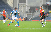 Blackburn Rovers' Stewart Downing under pressure from Luton Town's Ryan Tunnicliffe<br /> <br /> Photographer Kevin Barnes/CameraSport<br /> <br /> The EFL Sky Bet Championship - Blackburn Rovers v Luton Town - Saturday 28th September 2019 - Ewood Park - Blackburn<br /> <br /> World Copyright © 2019 CameraSport. All rights reserved. 43 Linden Ave. Countesthorpe. Leicester. England. LE8 5PG - Tel: +44 (0) 116 277 4147 - admin@camerasport.com - www.camerasport.com