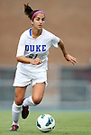 24 August 2012: Duke's Gilda Doria. The Duke University Blue Devils defeated the University of Montreal Caribins 4-1 at Fetzer Field in Chapel Hill, North Carolina in an international women's collegiate friendly game.