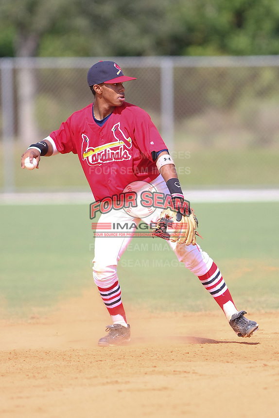 Francisco Lindor participates in the World Wood Bat Classic at the Roger Dean Complex in Jupiter, Florida on October 23, 2010.  Photo By Stacy Jo Grant/Four Seam Images