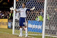 Dario Sala protects the goal. FC Dallas defeated the San Jose Earthquakes 2-1 at Buck Shaw Stadium in Santa Clara, California on October 7, 2009.
