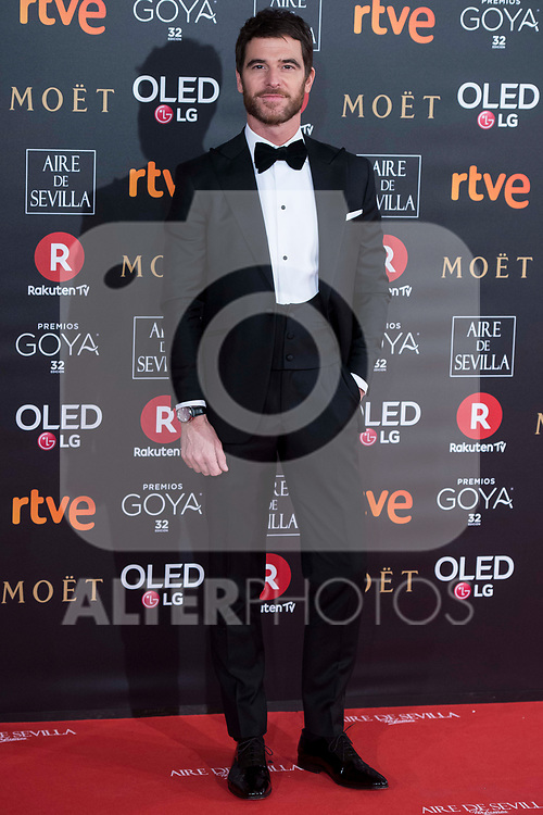Alfonso Bassave attends red carpet of Goya Cinema Awards 2018 at Madrid Marriott Auditorium in Madrid , Spain. February 03, 2018. (ALTERPHOTOS/Borja B.Hojas)