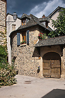 Europe/France/Midi-Pyrénées/12/Aveyron/Sainte-Eulalie-d'Olt: Vieille demeure, rue de la Grave