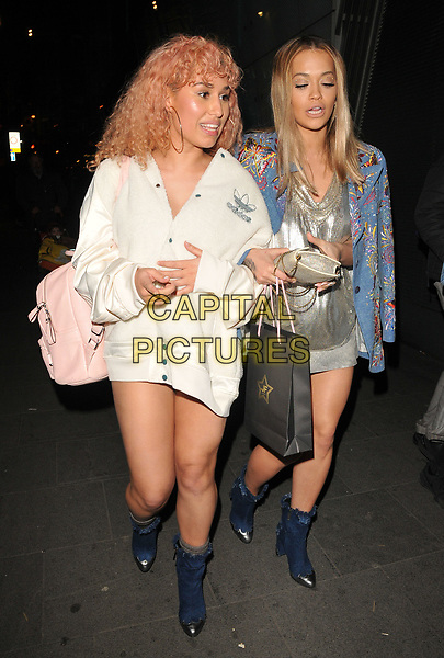 Raye ( Rachel Keen ) and Rita Ora at the Kyle De'volle x JF London new a/w capsule collection launch party, W Hotel, Wardour Street, London, England, UK, on Thursday 23 March 2017.<br /> CAP/CAN<br /> &copy;CAN/Capital Pictures