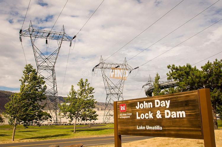 John Day Lock & Dam on the Columbia River in Oregon.