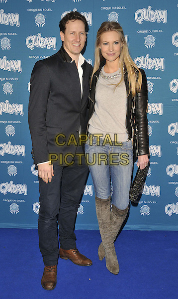 LONDON, ENGLAND - JANUARY 07: Brendan Cole &amp; Zoe Hobbs attend the &quot;Cirque du Soleil: Quidam&quot; VIP press night, Royal Albert Hall, Kensington Gore, on Tuesday January 07, 2014 in London, England, UK.<br /> CAP/CAN<br /> &copy;Can Nguyen/Capital Pictures