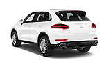 Car pictures of rear three quarter view of a 2017 Porsche Cayenne Diesel 5 Door SUV Angular Rear
