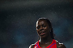 SHANGHAI, CHINA - MAY 19:  Veronica Campbell-Brown of Jamaica reacts after winning the Women 200m on May 19, 2012 at the Shanghai Stadium in Shanghai, China.  Photo by Victor Fraile / The Power of Sport Images