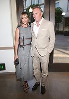 LOS ANGELES, CA - JUNE 11:Christine Baumgartner and Kevin Costner at the premiere of Yellowstone at Paramount Studios in Los Angeles, California on June 11, 2018. <br /> CAP/MPIFS<br /> &copy;MPIFS/Capital Pictures