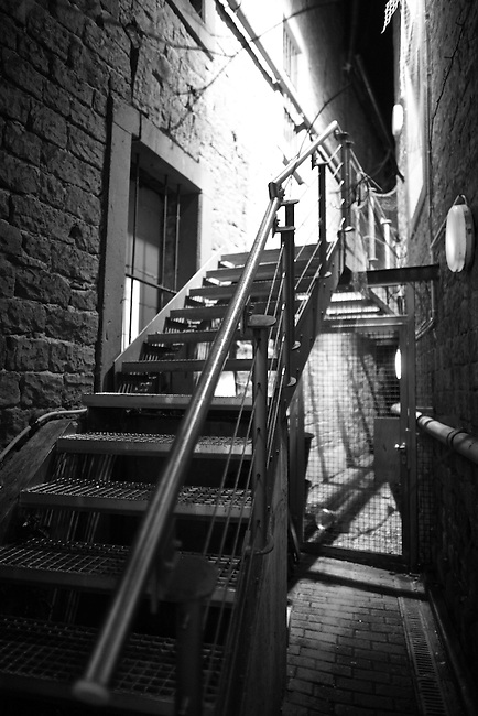 A staircase in an alley in Kaiserslautern, Germany. Sept. 14, 2009.