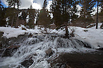 """""""Eagle Falls""""  Eagle Falls waterfall at Emerald Bay, Lake Tahoe, CA.  I hiked out to Lower Eagle Falls above Emerald Bay during the Winter of 2013. The road was closed due to avalanche danger so I had the whole area to myself for the entire day.  Emerald Bay may be the most visited and photographed area in all of Lake Tahoe but on a few days you can enjoy the beauty in solitude. I shot both stills and HD 1080 video of the waterfall and Emerald Bay."""