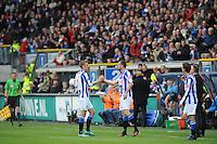 VOETBAL: HEERENVEEN: Abe Lenstra Stadion, SC Heerenveen - Feyenoord, 06-05-2012, Gerald Sibon (#35) komt in het veld als wissel voor Viktor Elm (#7) en speelt zijn afscheidswedstrijd als prof, Eindstand 2-3, ©foto Martin de Jong