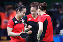 (L-R) Mima Ito, Kasumi Ishikawa, Ai Fukuhara (JPN), <br /> AUGUST 4, 2016 - Table Tennis : <br /> Men's and Women's Training session <br /> at Riocentro - Pavilion 3 <br /> during the Rio 2016 Olympic Games in Rio de Janeiro, Brazil. <br /> (Photo by Sho Tamura/AFLO SPORT)