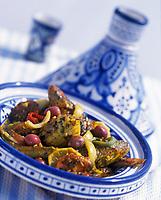 """Afrique/Maghreb/Maroc/Essaouira : Tajine de poissons de roche et calamar farci - Recette de Yann Bouffort chef du restaurant """"L'Arganier"""" de l'hôtel """"Sofitel Thalassa Mogador"""""""