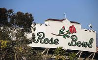 Jan 7, 2010; Pasadena, CA, USA; A general view of the Rose Bowl before the 2010 BCS national championship game between the Alabama Crimson Tide and Texas Longhorns.  Mandatory Credit: Mark J. Rebilas-