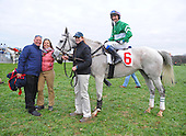 Won Wild Bird and connections in the winner's circle after the Hunt Cup.