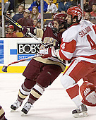 Dan Bertram, Sean Sullivan - The Boston University Terriers defeated the Boston College Eagles 2-1 in overtime in the March 18, 2006 Hockey East Final at the TD Banknorth Garden in Boston, MA.