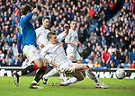 Shaun Hutchinson diverts John Fleck's cross into his own net net for an OG and goal no 4 for Rangers