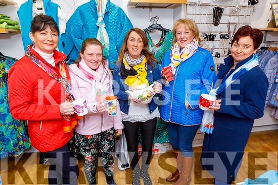 Carol Dooley, Jules O'Sullivan, Eileen Whelan, Marion Fitzgerald and Rita O'Sullivan Breen launch their Kerry Women's Resource Coffee morning fundraiser in Paco on Friday.