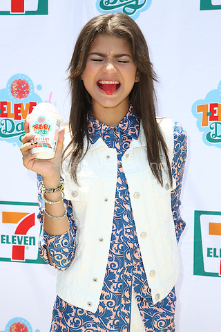 Zendaya Coleman arrives at the 7_Eleven 86th Birthday Party hosted by Nikki Reed in Malibu, California on July 9, 2013. <br /> © RTNBD/MediaPunch Inc.