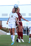 03 November 2013: North Carolina's Kelly McFarlane (11) and Boston College's Jana Jeffrey (12). The University of North Carolina Tar Heels hosted the Boston College Eagles at Fetzer Field in Chapel Hill, NC in a 2013 NCAA Division I Women's Soccer match and the quarterfinals of the Atlantic Coast Conference tournament. North Carolina won the game 1-0.