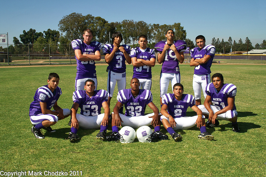 St. Anthony High School Football team photo.