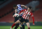 Jake Young of Sheffield Utd challenges Jordan Thorniley of Sheffield Wednesday during the Professional Development League match at Bramall Lane, Sheffield. Picture date: 26th November 2019. Picture credit should read: Simon Bellis/Sportimage