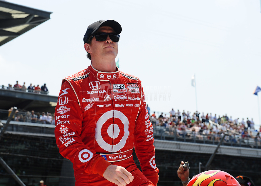 May 30, 2010; Indianapolis, IN, USA; IndyCar Series driver Scott Dixon during the Indianapolis 500 at the Indianapolis Motor Speedway. Mandatory Credit: Mark J. Rebilas-