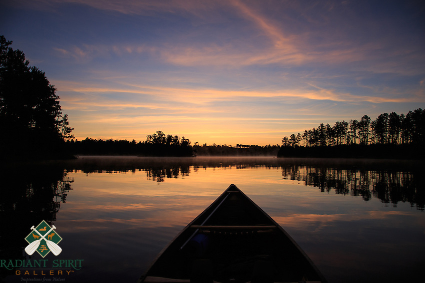 &quot;Suzanette Lake Sunrise Paddle&quot;<br /> <br /> It's hard to beat the tranquility of an early morning paddle on a wilderness lake.<br /> ~ Day 99 of Inspired by Wilderness: A Four Season Solo Canoe Journey