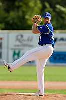 BASEBALL - GREEN ROLLER PARK - PRAGUE (CZECH REPUBLIC) - 27/06/2008 - PHOTO: CHRISTOPHE ELISE.PITCHER LAURENT AOUTIN (TEAM FRANCE)