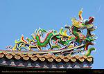 Dragon Detail, Temple Roof Lower Right, Kanteibyo Temple, Guan di Miao, Chinatown, Yokohama, Japan