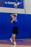 2 November 2014: Yeshiva University Maccabee setter Emily Rohan, a Junior from Dallas, TX, in action against the Sarah Lawrence Gryphons at SUNY Purchase College, in Purchase, NY. The Maccabees defeated the Gryphons 3-2 in the NCAA Division III Women's Volleyball Skyline matchup. Rohan was named an HVIAC All-Conference team member for the 2014 Women's Volleyball season. Mandatory Credit: Ed Wolfstein Photo *** RAW (NEF) Image File Available ***