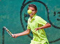 Netherlands, Dordrecht, August 03, 2015, Tennis,  National Junior Championships, NJK, TV Dash 35, Jesse de Jager<br /> Photo: Tennisimages/Henk Koster