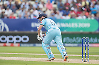 Jonny Bairstow (England) pushes into the on side for a single during Australia vs England, ICC World Cup Semi-Final Cricket at Edgbaston Stadium on 11th July 2019