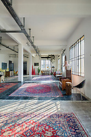 A converted shoe factory blends old world flavour with warehouse edge. In the airy and ever-changing loft where carpets and mother-of-pearl abound, a Bokja chaise-longue and Spanish bench.