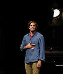 """Jake Gyllenhaal and Tom Sturridge during the Broadway Opening Night performance Curtain Call of """"Sea Wall / A Life"""" at the Hudson Theatre on August 08, 2019 in New York City."""