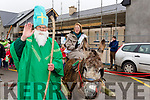 St Patrick with Marshal of the Kilflynn St Patricks Day Parade on Sunday Mary Carroll (principal St Teresa's NS Kilflyyn).