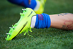 Shoe of Jose Maria Gimenez de Vargas of Atletico de Madrid is seen during their La Liga match between Atletico de Madrid and Sevilla FC at the Estadio Vicente Calderon on 19 March 2017 in Madrid, Spain. Photo by Diego Gonzalez Souto / Power Sport Images