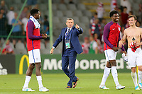 England Under21 manager Aidy Boothroyd instructs the players to applaud the crowd after England Under-21 vs Poland Under-21, UEFA European Under-21 Championship Football at The Kolporter Arena on 22nd June 2017