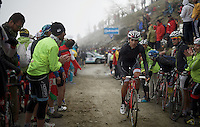 Fabio Sylvestre (POR/Trek Factory Racing) up the dirt roads of the Colle delle Finestre (2178m)<br /> <br /> Giro d'Italia 2015<br /> stage 20: Saint Vincent - Sestriere (199km)