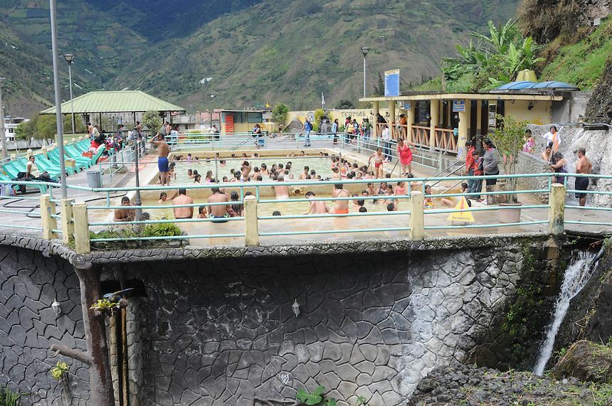 Hot Baths in Banos, Ecuador