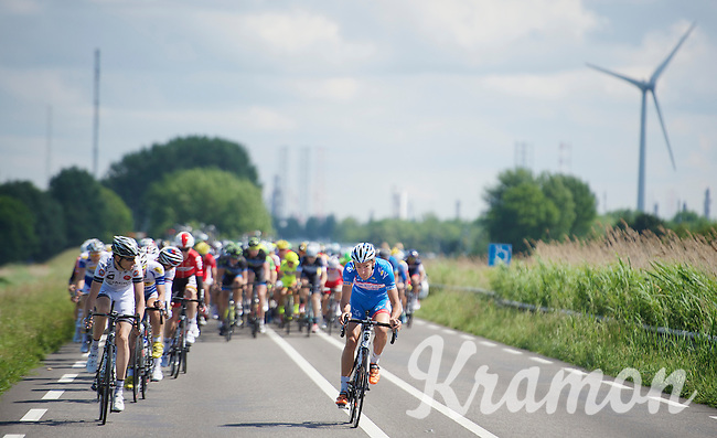 Laurens De Vreese (BEL/Wanty-GroupeGobert) trying to break free from the peloton<br /> <br /> 3rd World Ports Classic 2014<br /> stage 1: Rotterdam - Antwerpen 195km