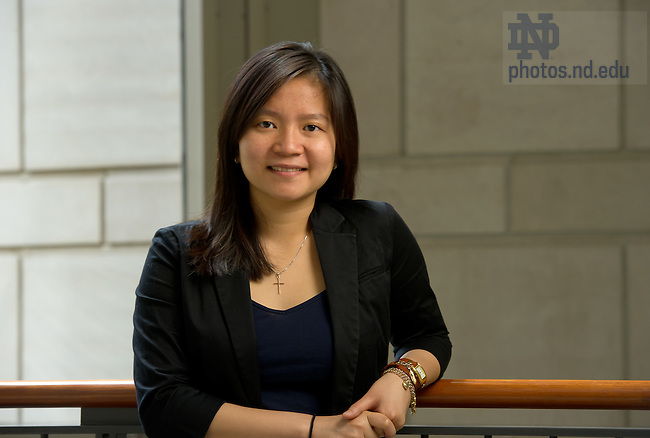 May 9, 2012; Fulbright Scholarship awardee Nhu Phan..Photo by Matt Cashore/University of Notre Dame