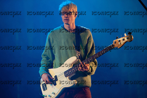 ALT-J - bassist Gwil Sainsbury - performing live on the King Tut stage at T in the Park Festival 2012 held at Balado Scotland UK - 07 July 2012.   Photo credit: Derren Nugent/IconicPix